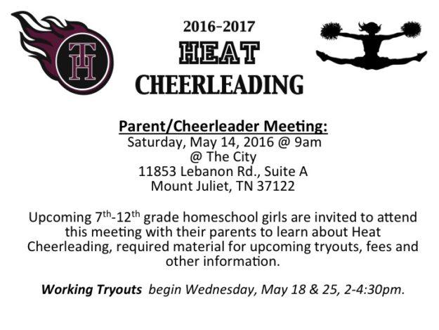 Cheerleading Meeting 2016
