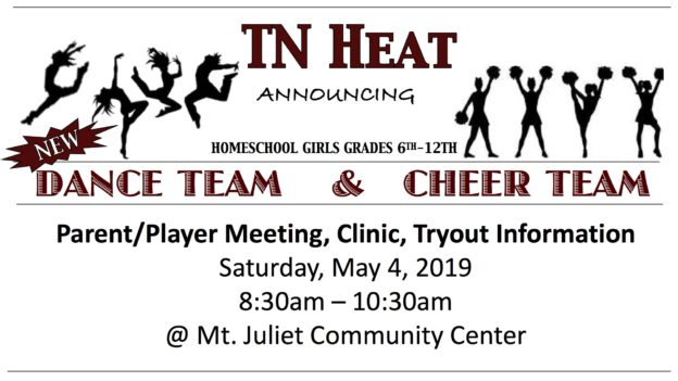 TN HEAT Dance Team & Cheer Team Announcement
