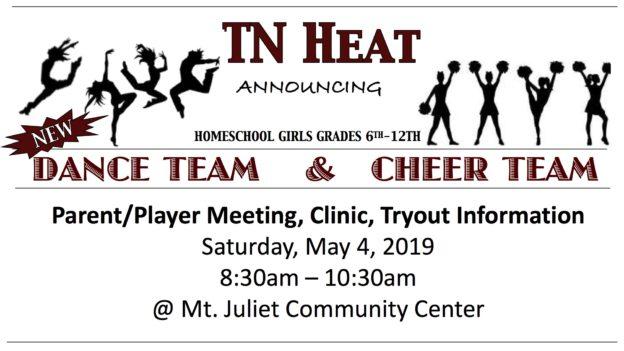 TN HEAT Dance Team & Cheer Team Announcement