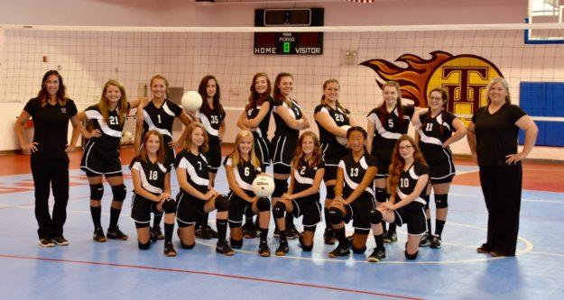 2016 Middle School Volleyball Team